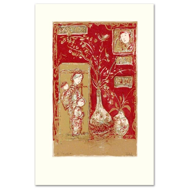 """""""Oriental Delight"""" Limited Edition Serigraph by Edna"""