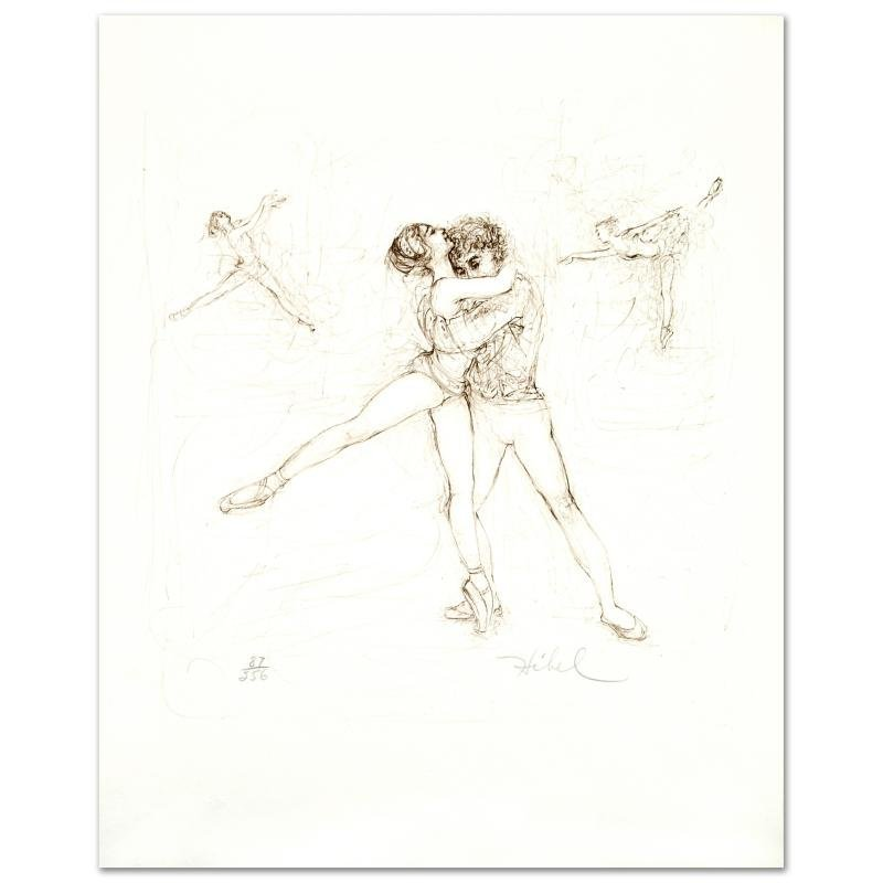 """Pas de Deux"" Limited Edition Lithograph by Edna Hibel"