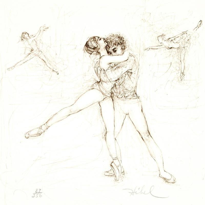 """""""Pas de Deux"""" Limited Edition Lithograph by Edna Hibel - 2"""