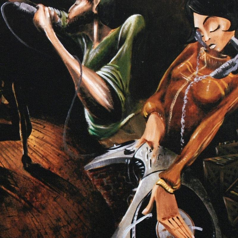 """The Get Down"" LIMITED EDITION Giclee on Canvas by - 2"