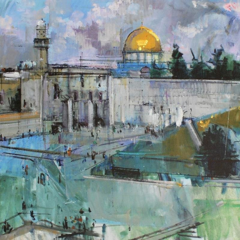 """Jerusalem"" Limited Edition Giclee on Canvas (40"" x - 2"