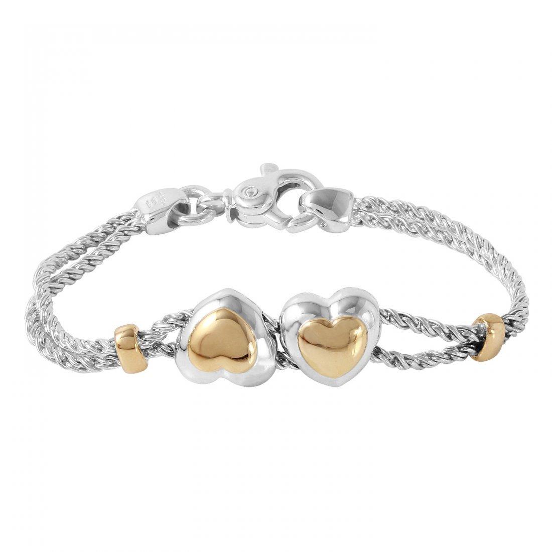 Tiffany & Co. 18KT & Sterling  Heart Bracelet