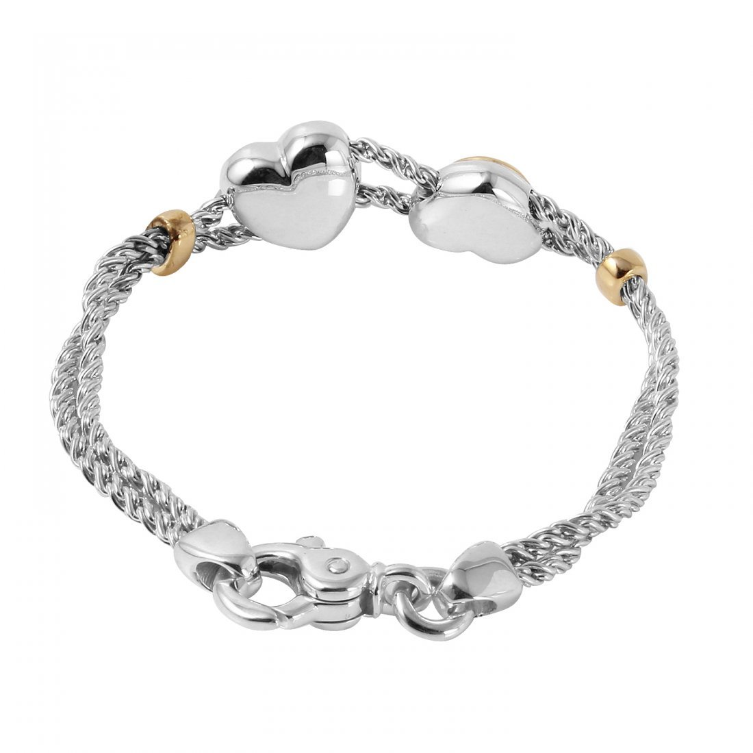 Tiffany & Co. 18KT & Sterling  Heart Bracelet - 2