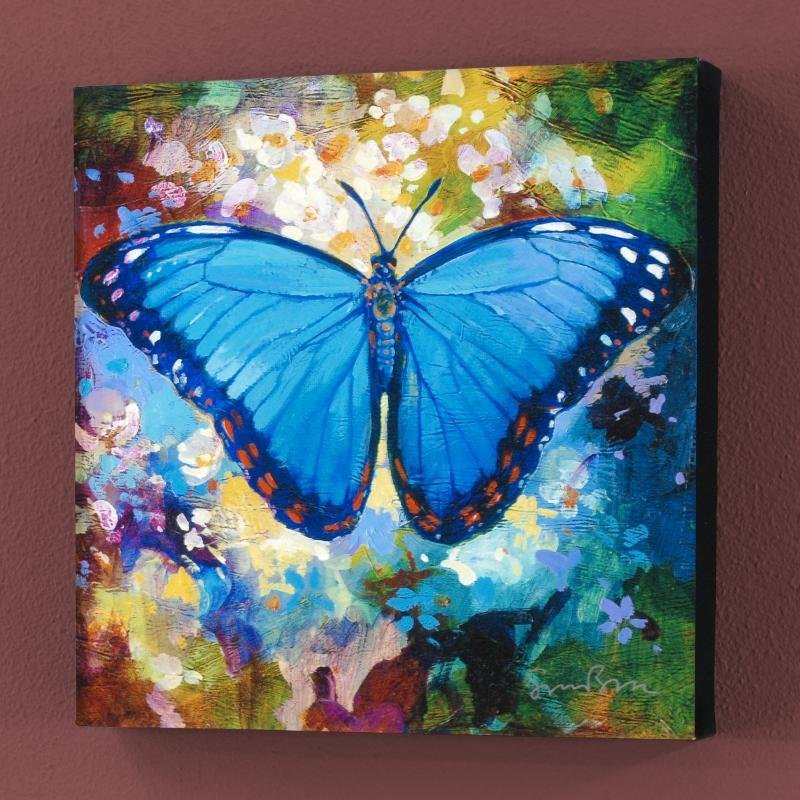 """Blue Morpho"" Limited Edition Giclee on Canvas by Simon"