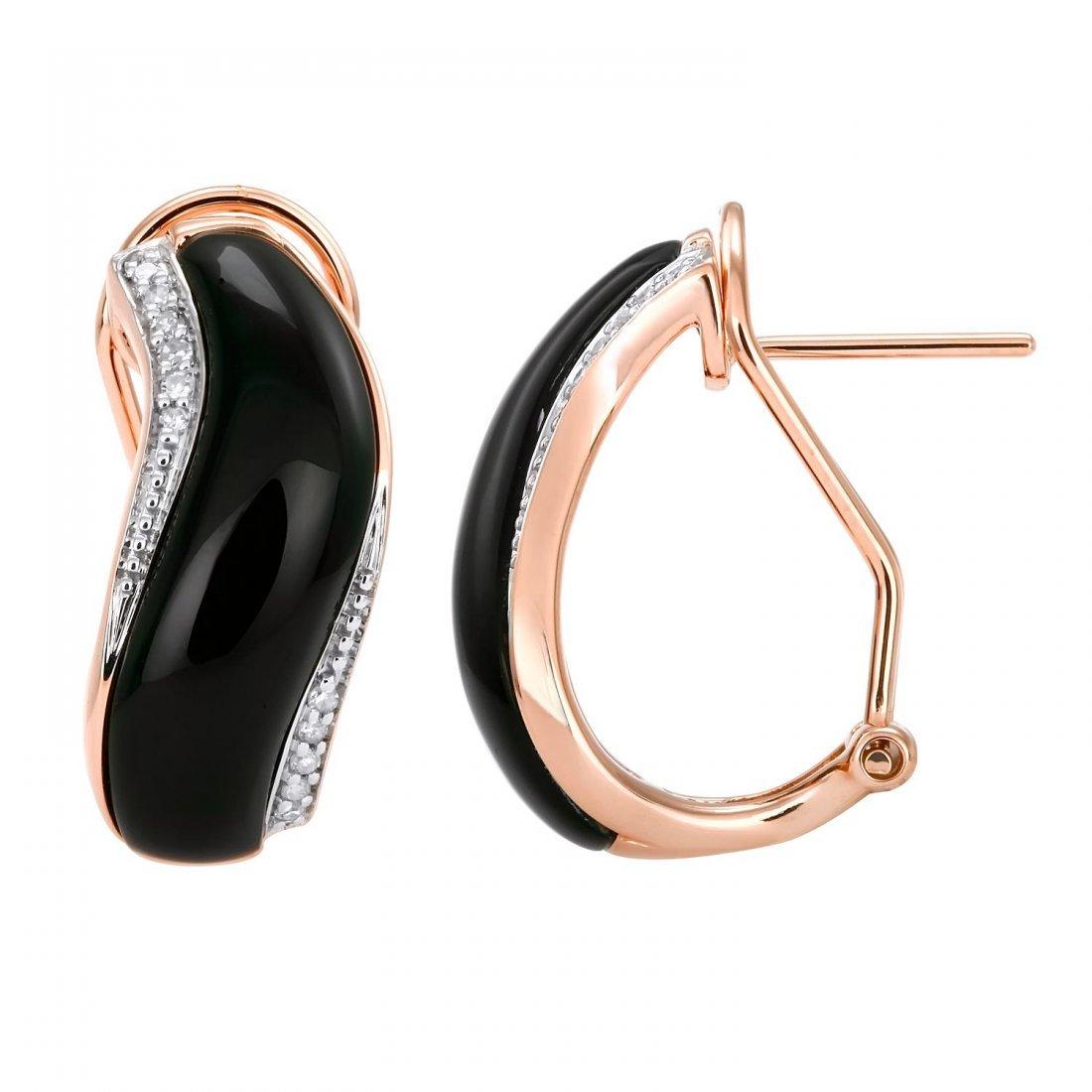 14KT Rose Gold Gemstone Earrings