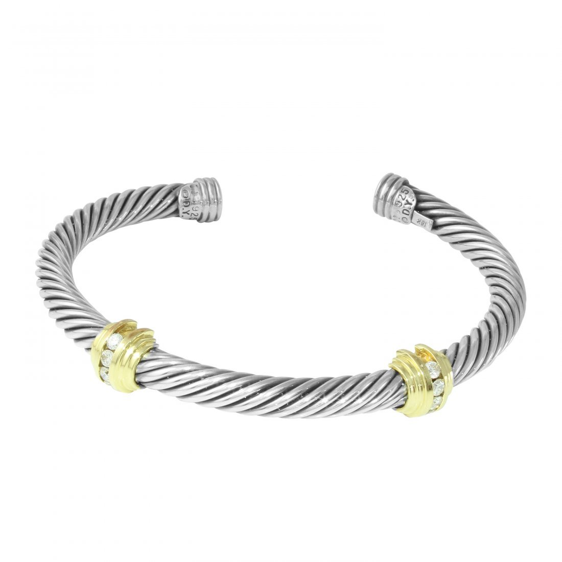 David Yurman Diamond Two Tone Cuff