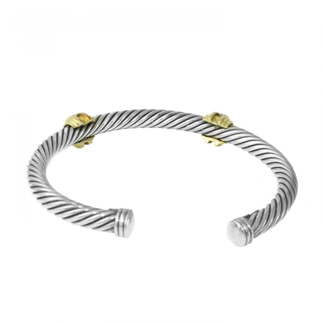 David Yurman Diamond Two Tone Cuff - 2