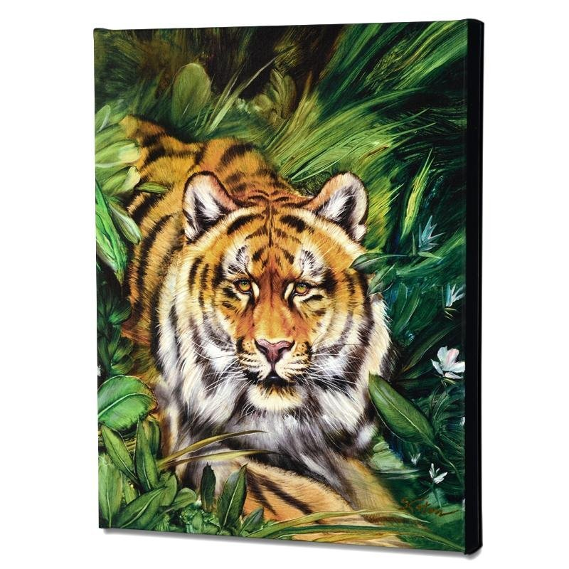 """""""Tiger Surprise"""" Limited Edition Giclee on Canvas by"""