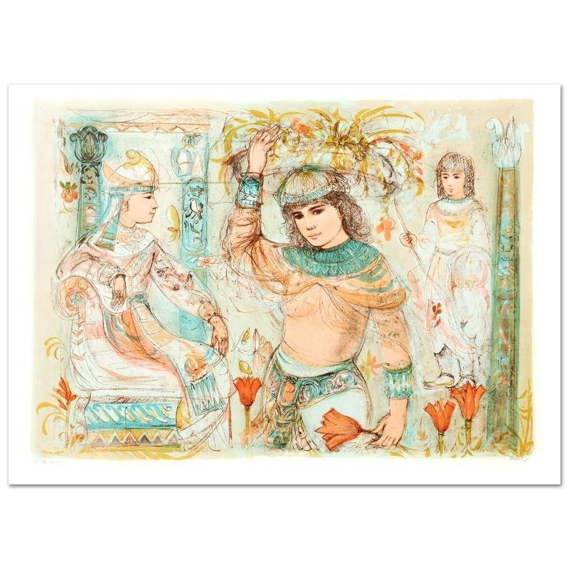 """""""Aida"""" Limited Edition Lithograph (38"""" x 27"""") by Edna"""