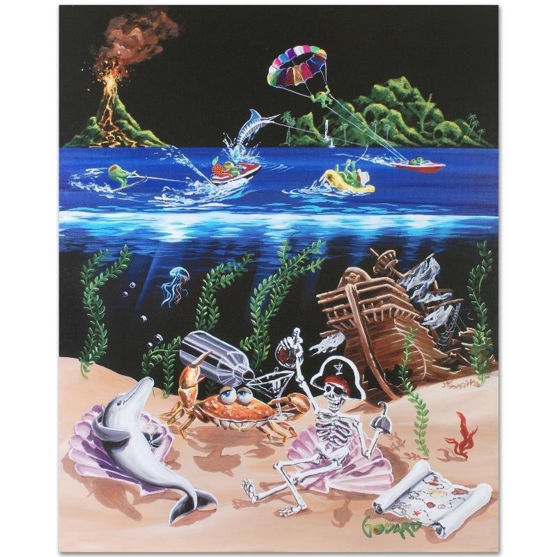 """Sand Bar 2"" LIMITED EDITION Giclee on Canvas (28"" x - 3"