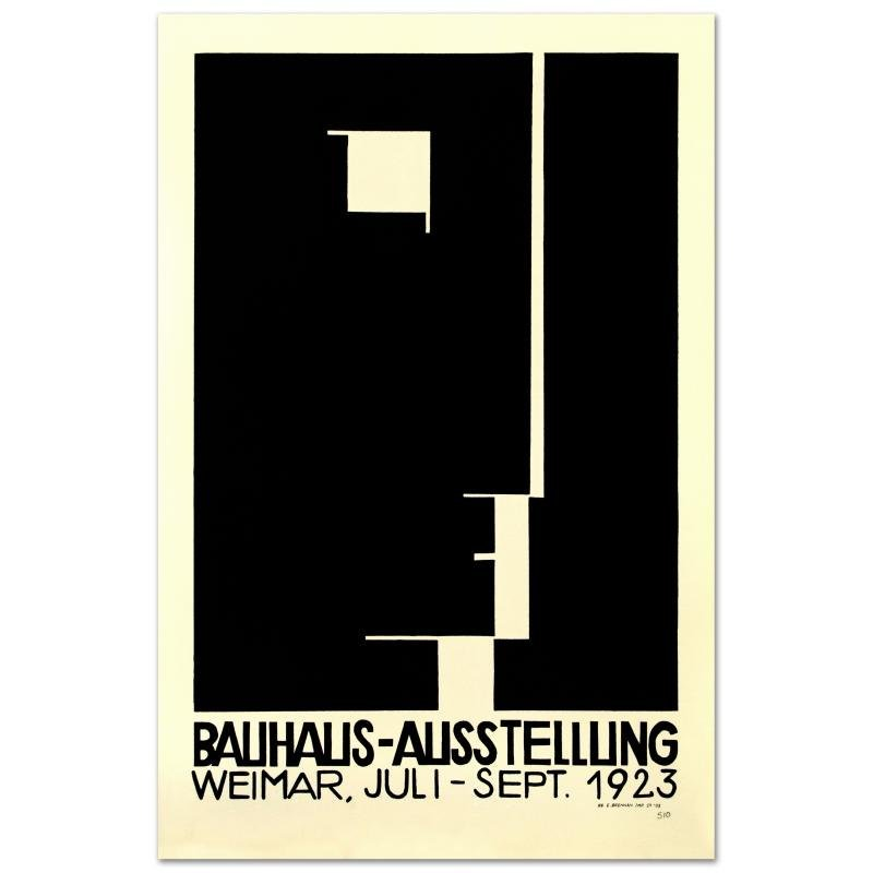 """""""Bauhaus-Profile"""" Hand Pulled Lithograph by the RE"""