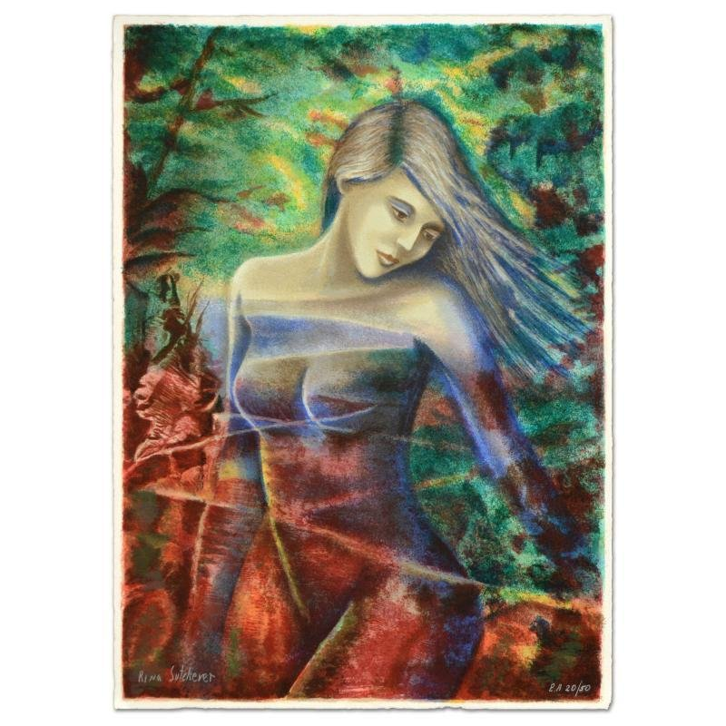 """""""Captivating Beauty"""" Limited Edition Serigraph by Rina"""