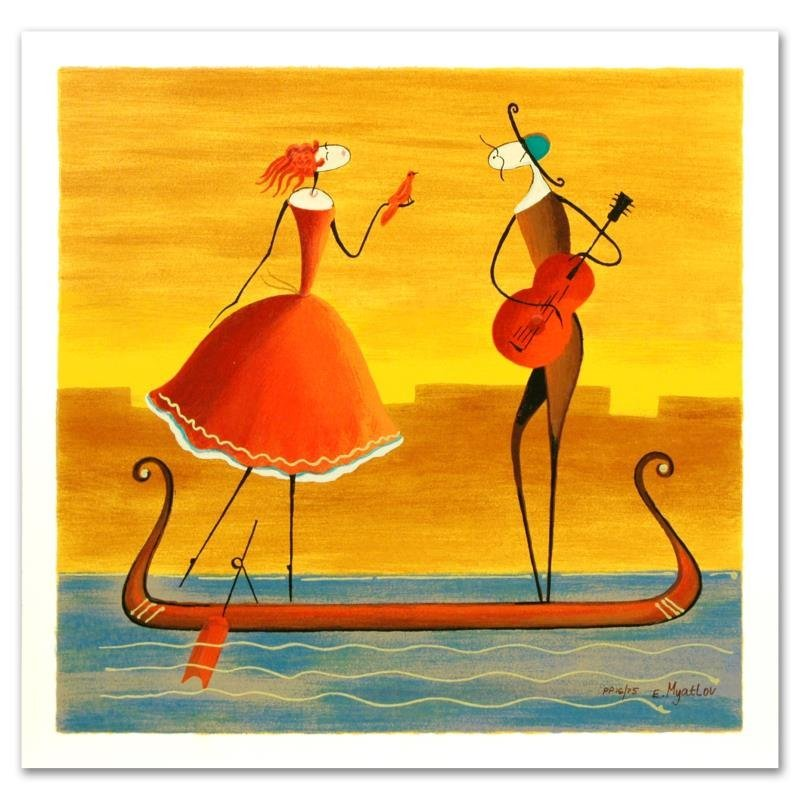 """""""Love on a Gondola"""" Limited Edition Serigraph by Ester"""