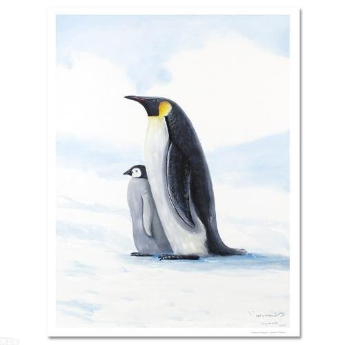 """""""Antarctic Penguins"""" Limited Edition Giclee on Canvas"""
