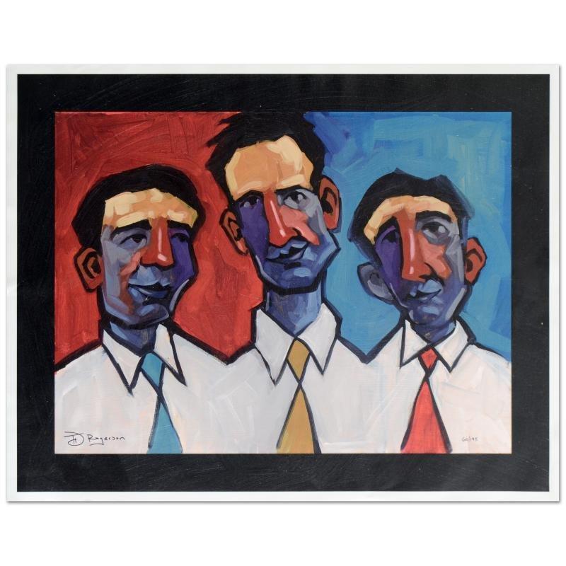 """Three Guys Named Joe"" Limited Edition Hand Embellished"