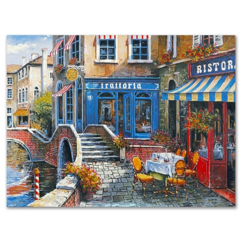 """""""Outdoor Cafe"""" Limited Edition Lithograph by Anatoly"""