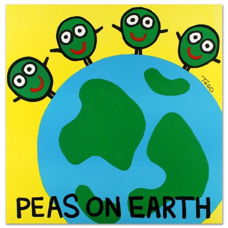 """""""Peas on Earth"""" Limited Edition Lithograph by Todd"""