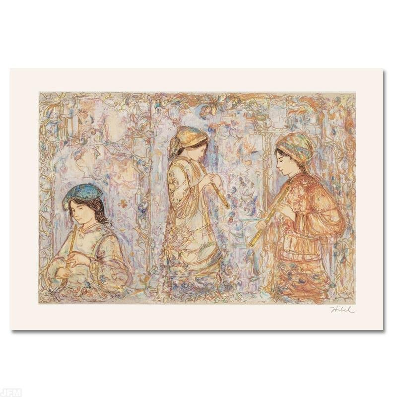"""Music in the Garden"" Limited Edition Serigraph by Edna"