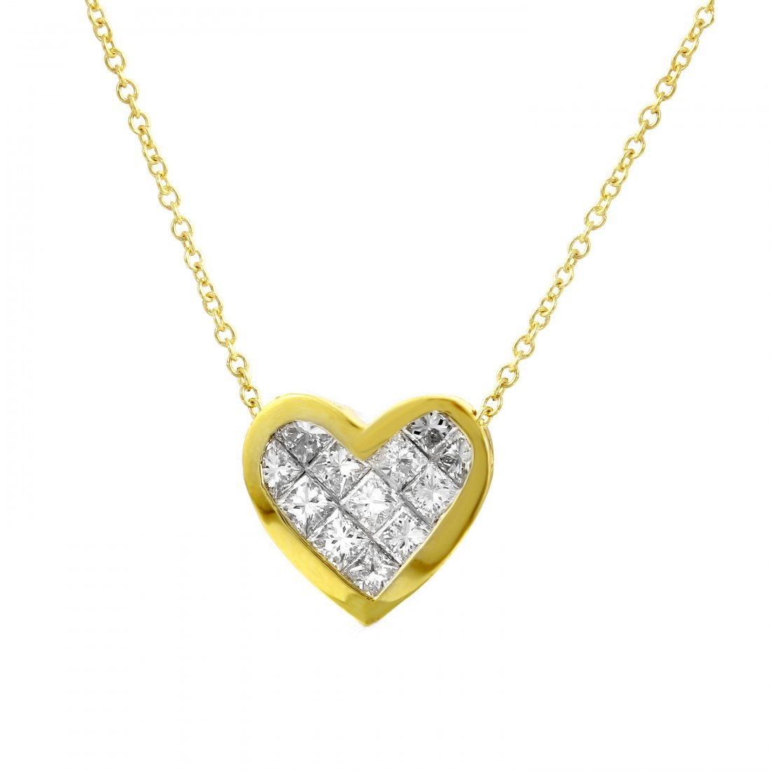 18KT Yellow Gold Ladies Slider with Chain