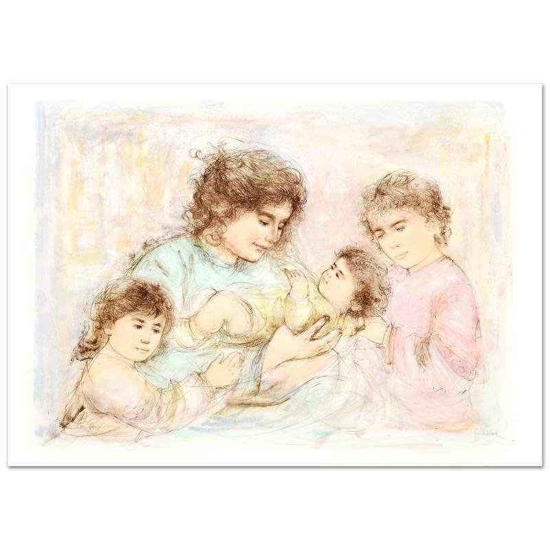 """""""Marilyn and Children"""" Limited Edition Lithograph (37"""""""