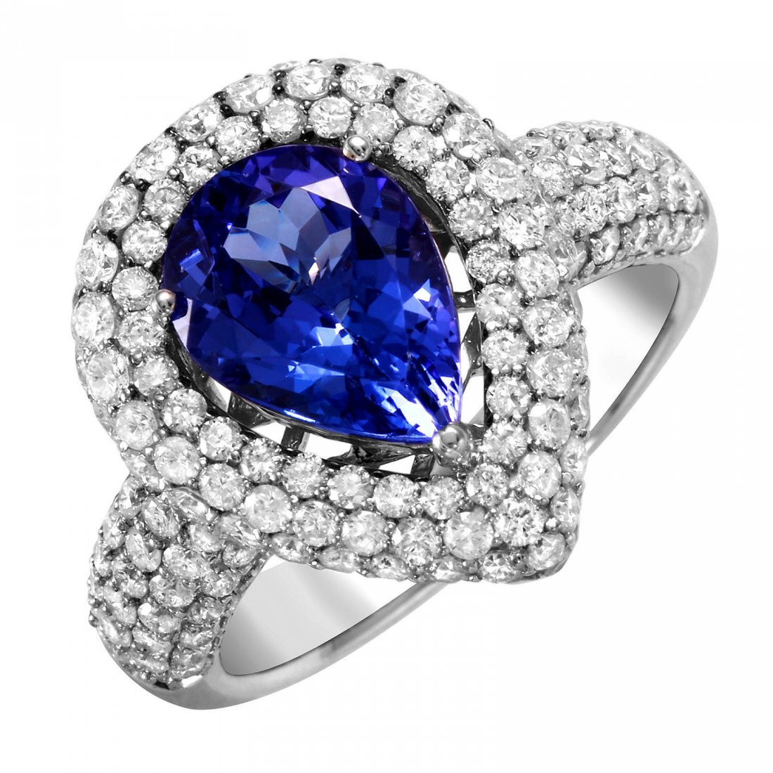 Tanzanite & Diamond White Gold Ring