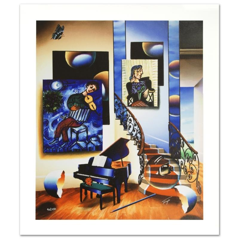 """Fiddler"" Limited Edition Giclee on Canvas by Ferjo,"