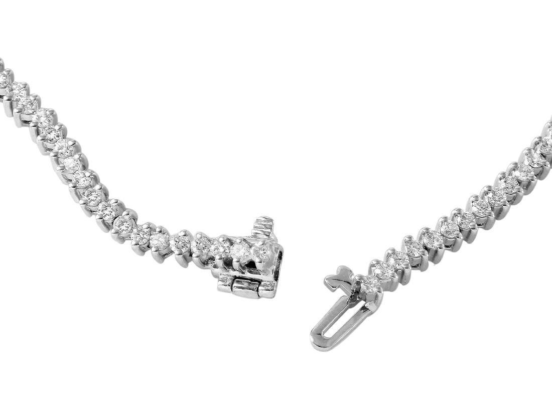 14KT White Gold Diamond Tennis Bracelet - 3