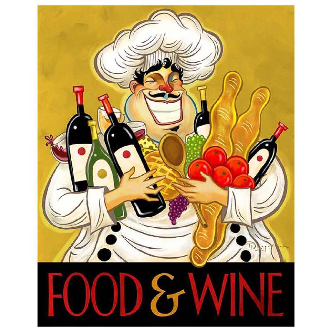 """Tim Rogerson - """"Hoarding Wine"""" Limited Edition Giclee"""