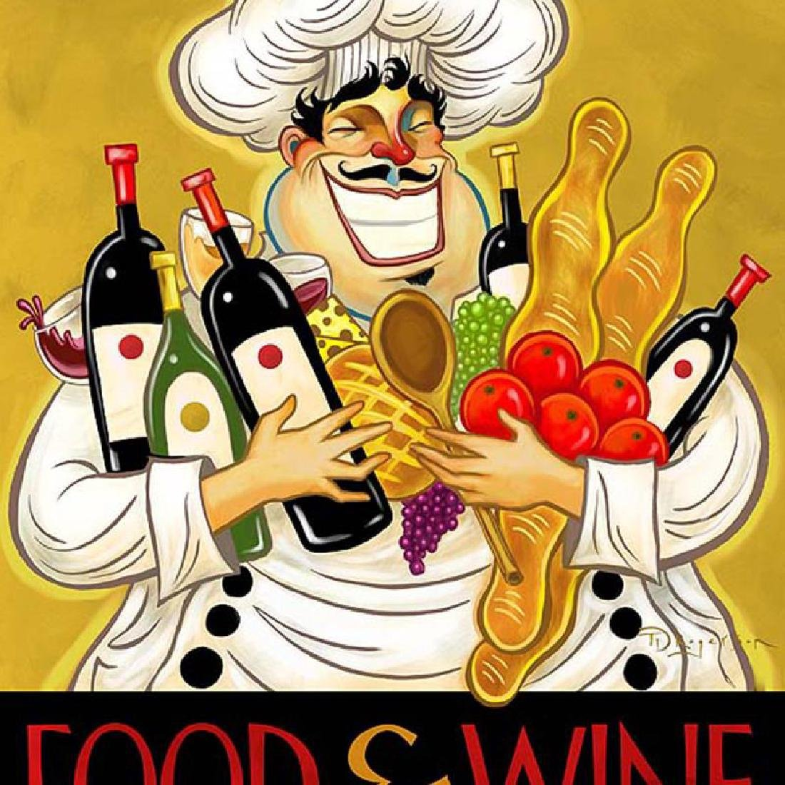 """Tim Rogerson - """"Hoarding Wine"""" Limited Edition Giclee - 2"""