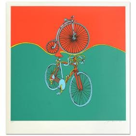 """""""Bicycle"""" Limited Edition Serigraph by Jack Brusca"""
