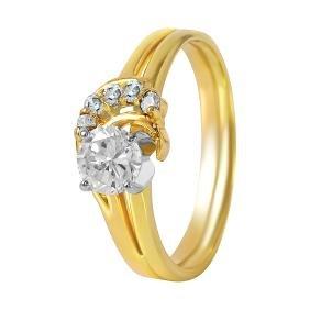 14KT Yellow Gold Diamond Engagement Ring