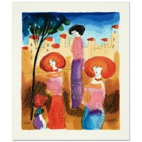 The Meeting Limited Edition Serigraph by Moshe Leider,