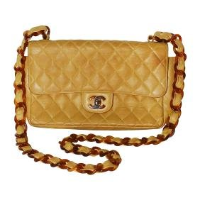 Chanel Brown Handbag w/ Tortoise Shell Strap