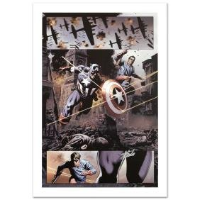 """Captain America #37"" Limited Edition Giclee on Canvas"