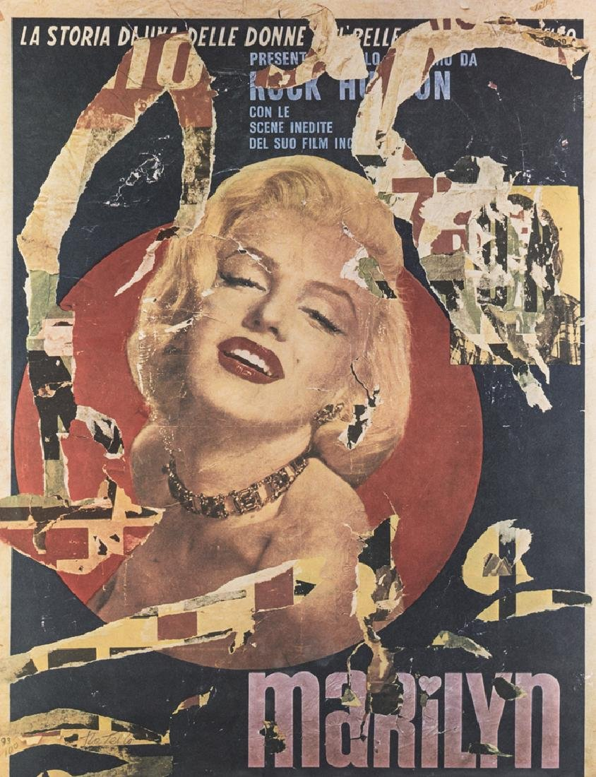 MIMMO ROTELLA  CATANZARO 1918-MILANO 2006  MARILYN