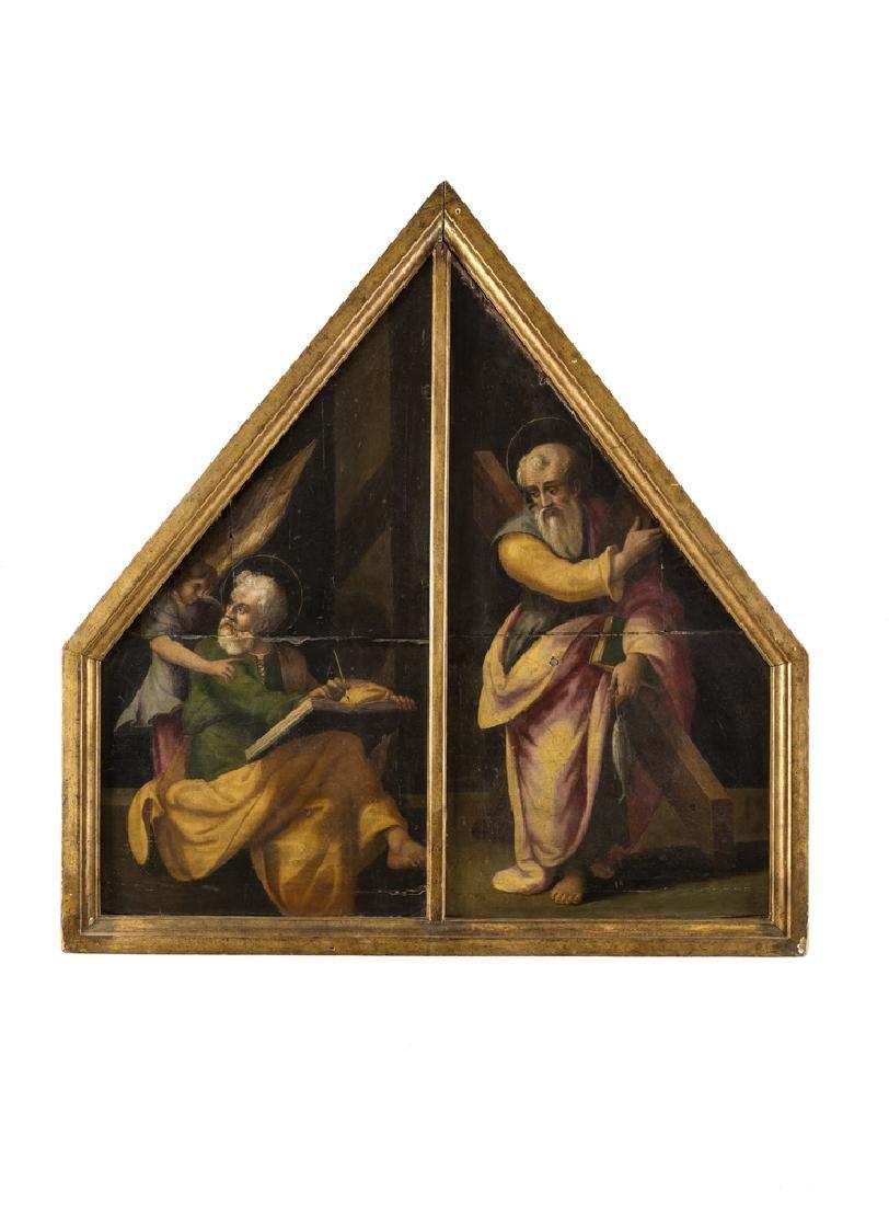PITTORE DEL XVI SECOLO   ST MATTHEW AND ST ANDREW |