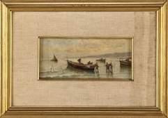 RAIMONDO SCOPPA NAPOLI 1820-NAPOLI 1890 TWO PAINTINGS,