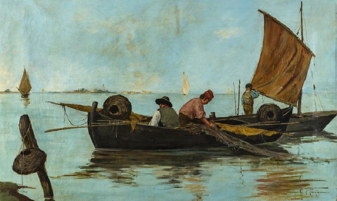 FRAGIACOMO PIETRO TRIESTE 1856-VENEZIA 1922 FISHERMEN
