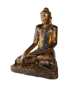 BUDDHA SCULPTURE    BUDDHA IN LEGNO