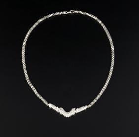 WHITE GOLD NECKLACE WITH DIAMONDS |  COLLANA IN ORO
