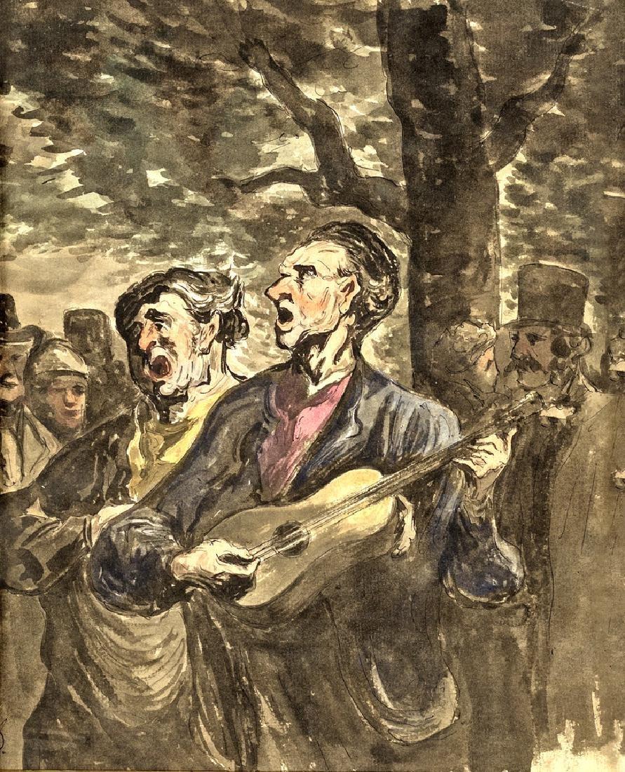 PAINTER OF 18/19TH CENTURY MUSICISTI DI STRADA STREET
