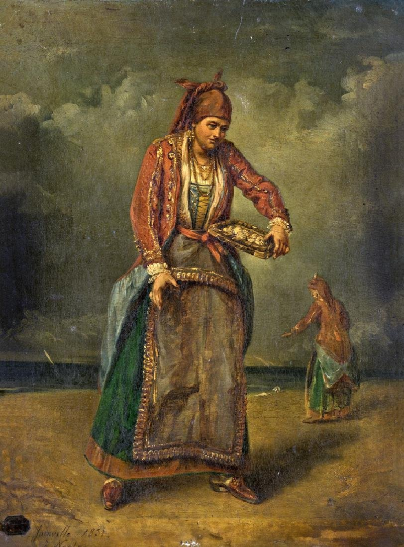 19TH CENTURY PAINTER VENDITRICE DI FRUTTI DI MARE SEA