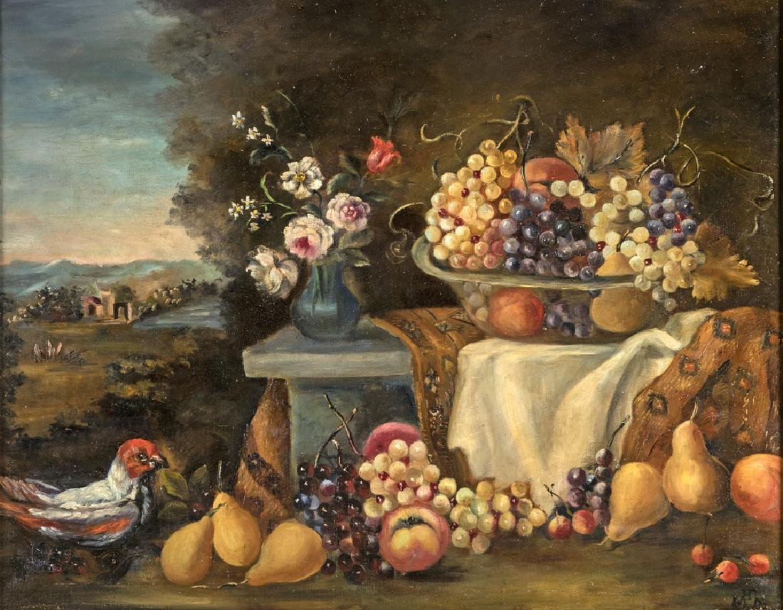 PAINTER OF THE 20TH CENTURY NATURA MORTA STILL LIFE