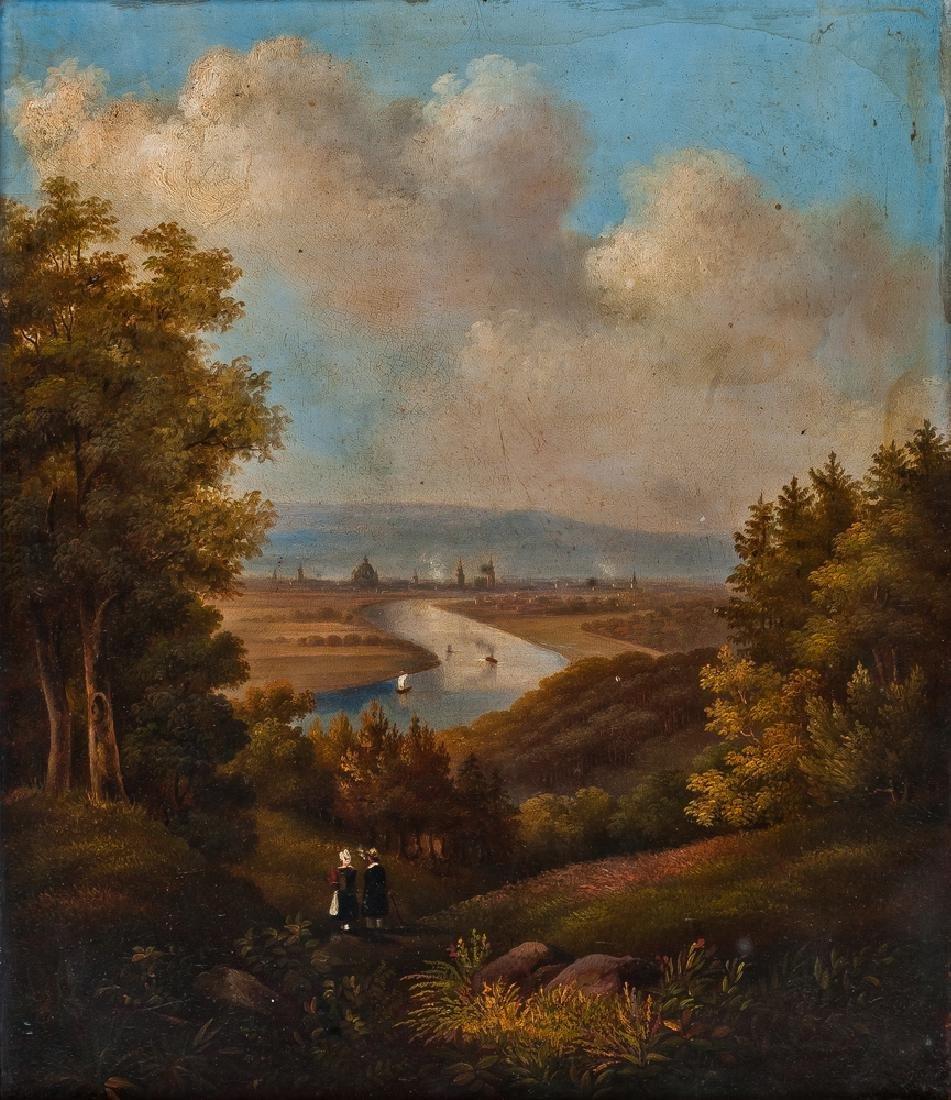 18TH CENTURY PAINTER VEDUTA DI SAN PIETRO VIEW OF SAN