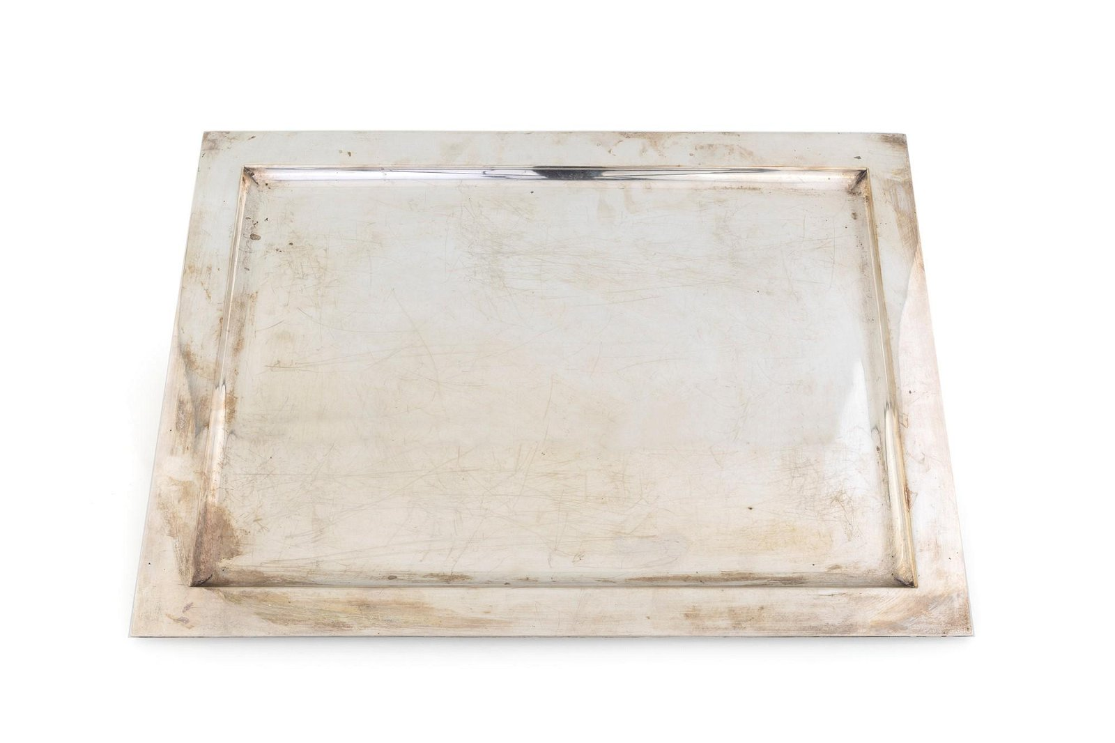 Rectangular silver tray