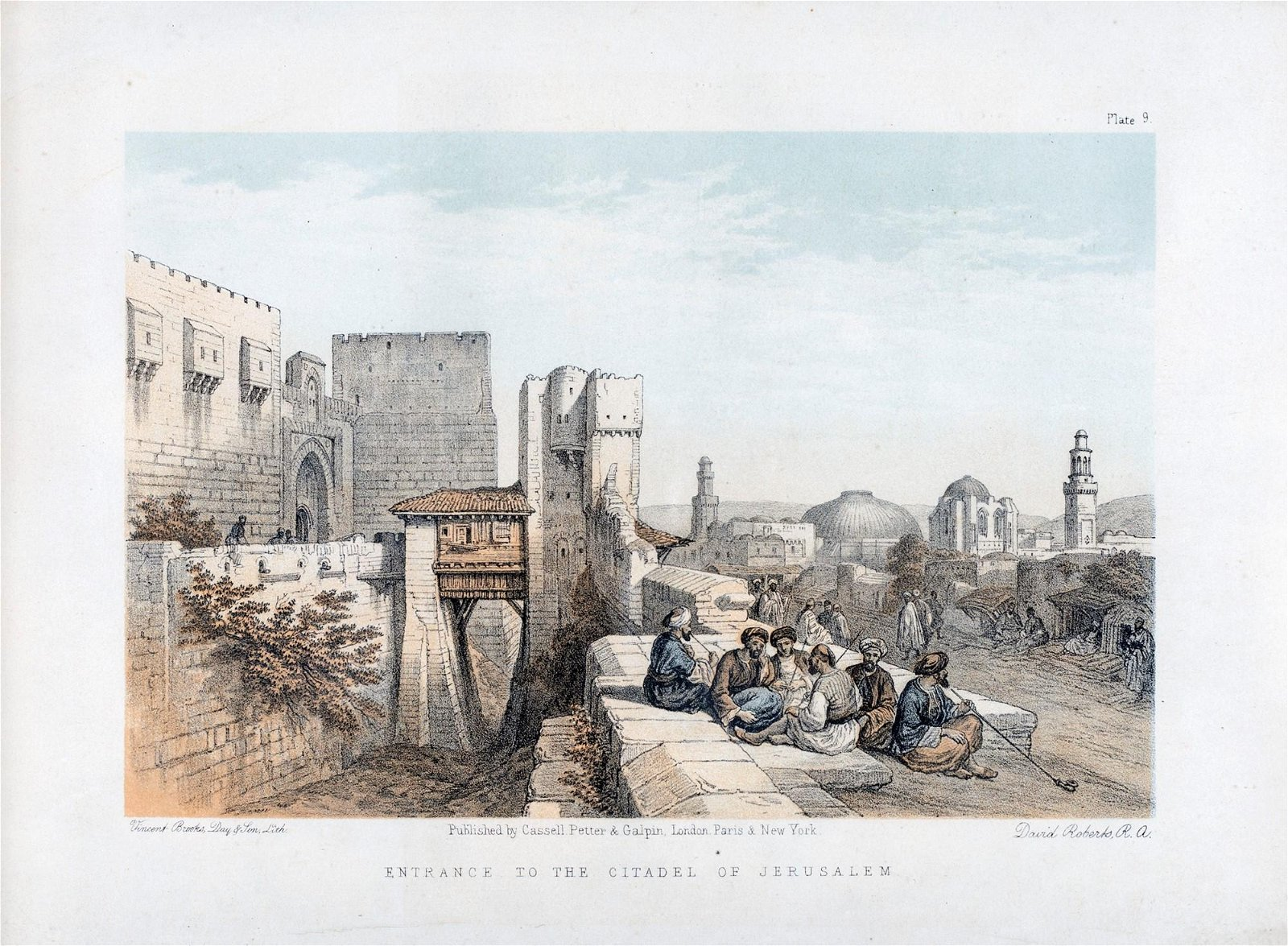 The entrance to the citadel of Jerusalem by David