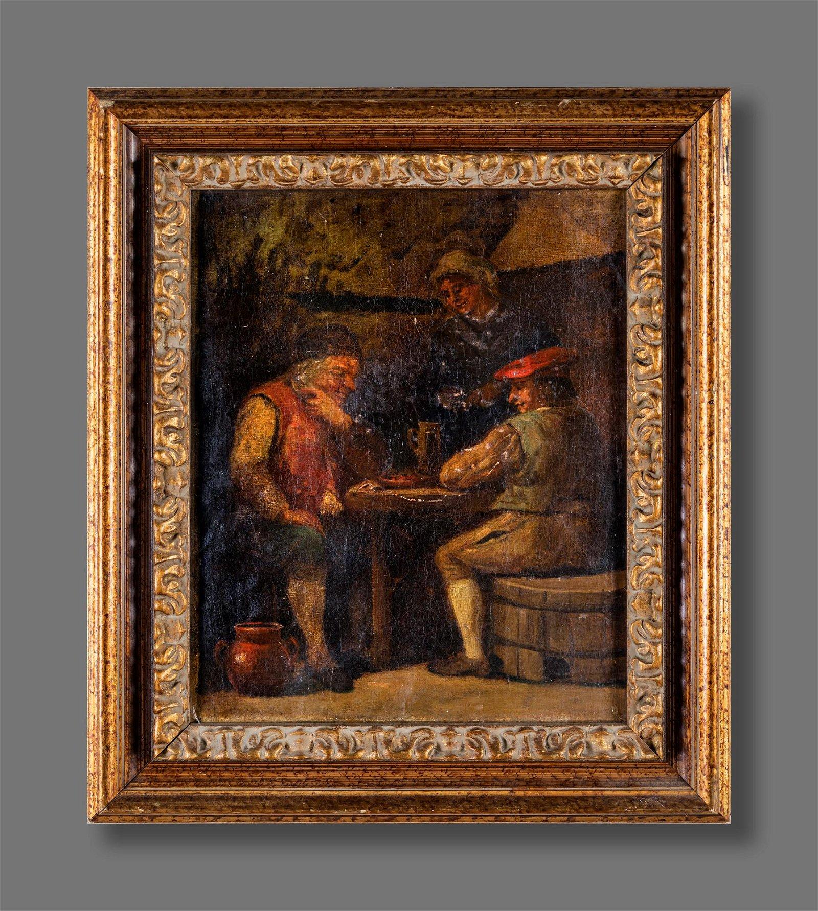 Pittore del XIX secolo   Card players