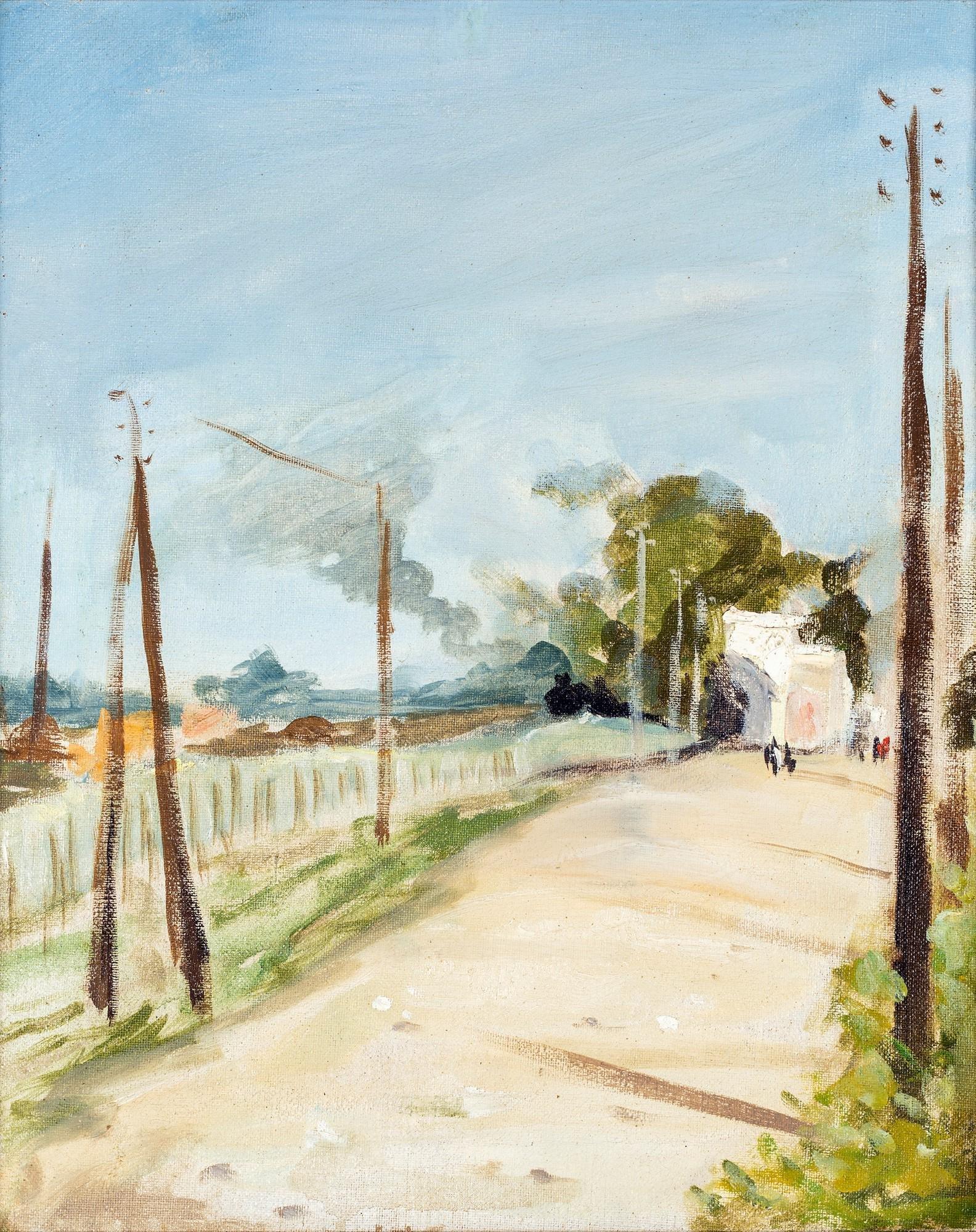 Pittore degli inizi del XX secolo   Rail road