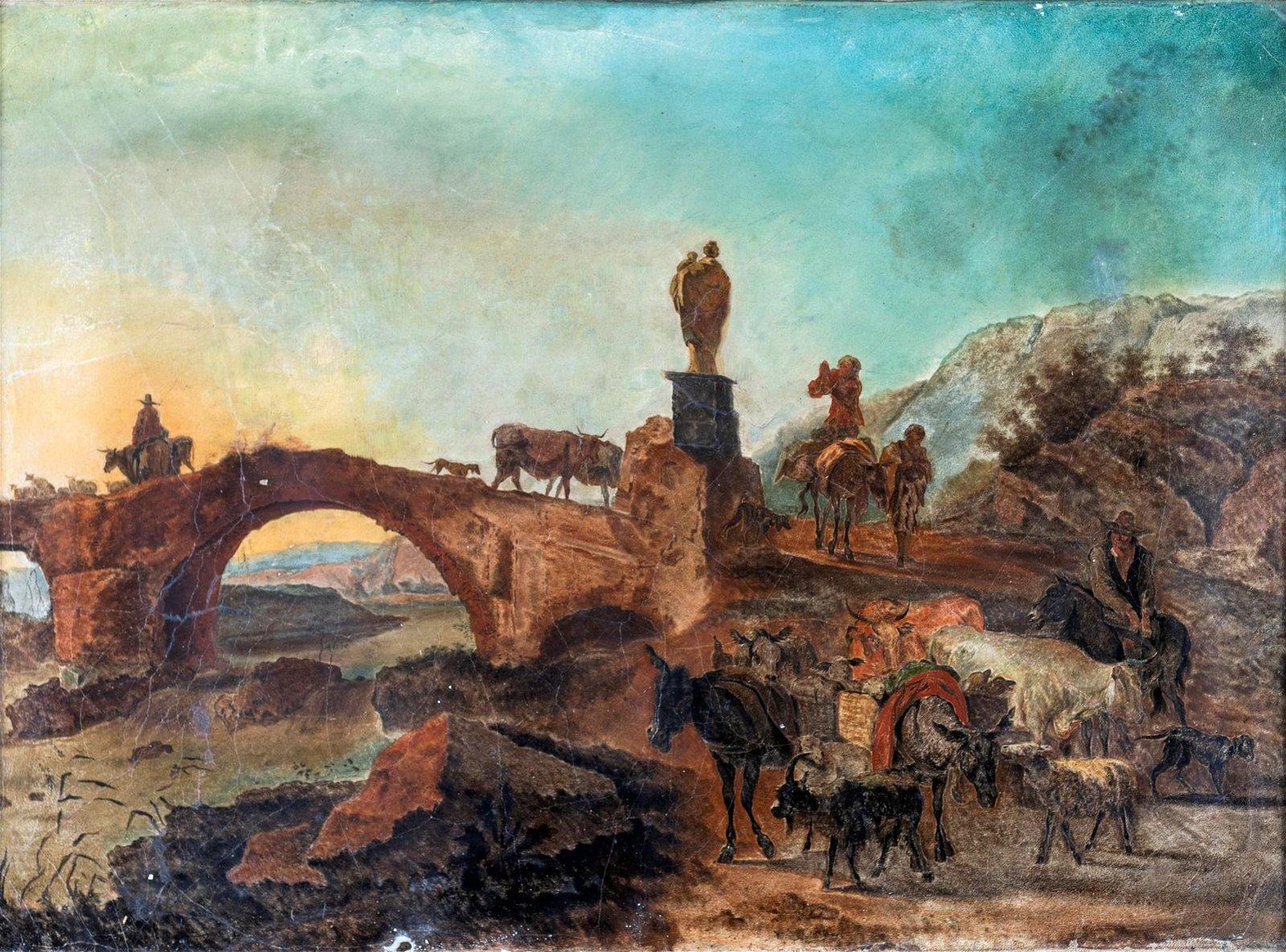 Pittore degli inizi del XIX secolo   River landscape