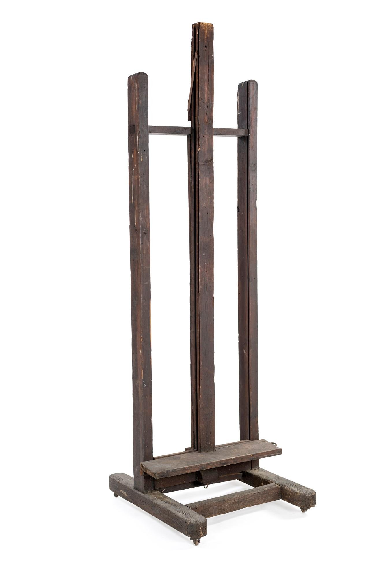 Wooden painter's easel from 19th century